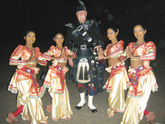 Jim in India with Dancers